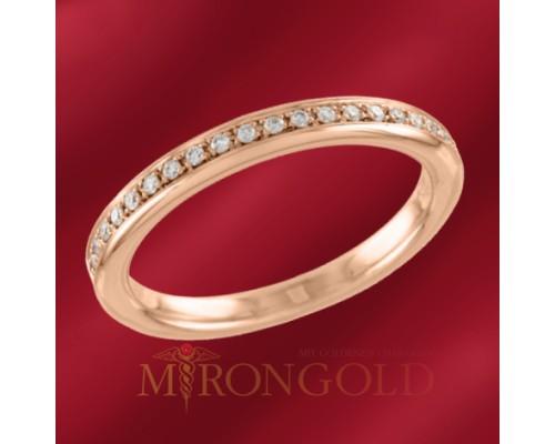 Damenring,, Rotgold 585, Brillanten
