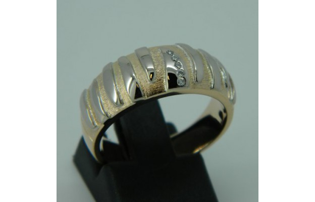Damenring, Rot-/ Weißgold 585, Brill.