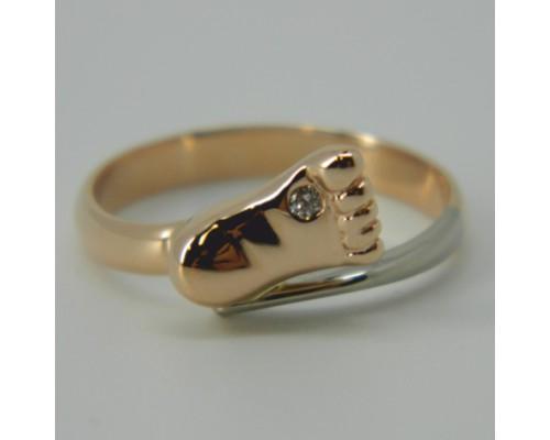 Damenring, Rotgold 585, Brillant 0,015 TW/VS
