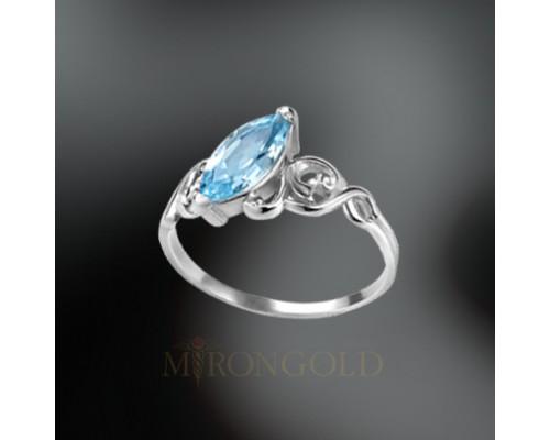 Damenring mit blauem Topas, Silber 925